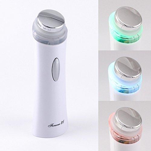 SUPERSONIC Portabel Kosmetisches Ultraschallgerät mit Farblichtindikator für Körper und Gesicht, anti Falten anti-aging, Akne, Hautstraffung, Ultraschall, massage