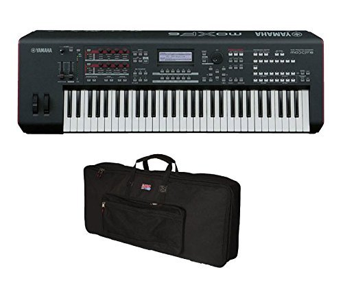 Yamaha MOXF6 61-key Synth Workstation w/Gator 61 Key Gig Bag Softcase