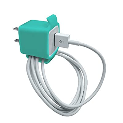 iPhone Charger Keeper + iPhone cable organizer - Turquoise (3pcs), iPhone power adapter cable collector organizer,for all models of Apple Adapter: iPhone 4, 4s, 5, 4s, 6, 6+, 6s, 6s+ by LimitStyle