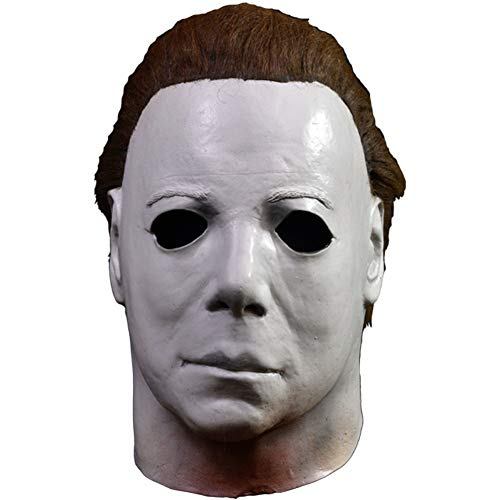 Loftus International Trick or Treat Studios Halloween II Elrod Full Head Mask Black White One-Size Novelty Item ()