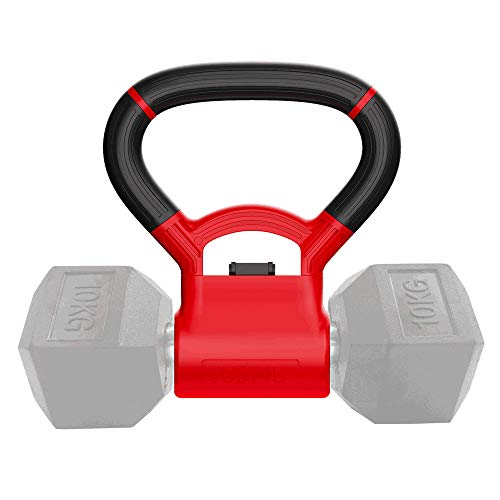 JUST4U Kettlebell Adjustable Portable Weight Grip – Turn Your Dumbbells into Kettlebells
