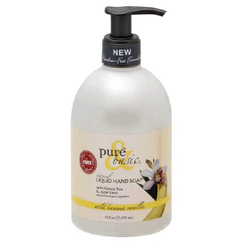 Pure & Basic Natural Liquid Hand Soap Wild Banana Vanilla -- 12.5 fl oz