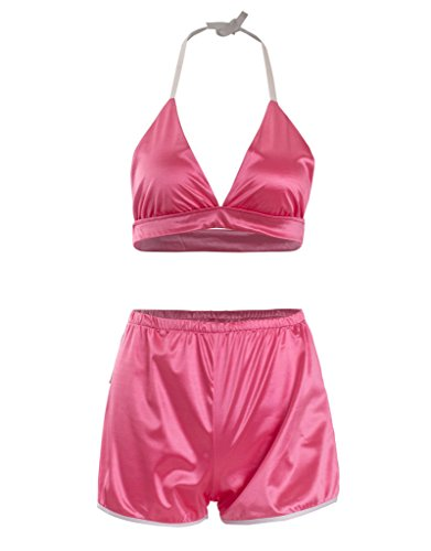i-wish-womens-lingerie-set-silk-liked-camisole-nighty-sleepwear-halter-crop-top-shorts-set