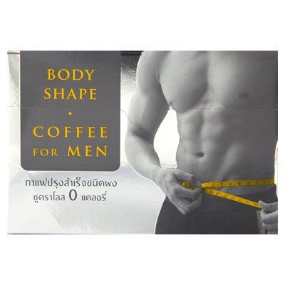Body Coffee Shape pour le mélange des hommes de café 15g de poudre. Paquet 10sachets