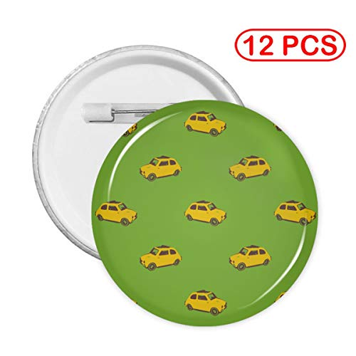 Badge Button Fiat Yellow Seamless Pattern Clothing Decoration Collectible Buttons Pack of 1,5,12,20