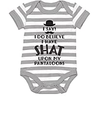 TeeStars - I Do Believe I Have Shat Upon My Pantaloons Funny Gent Baby Onesie