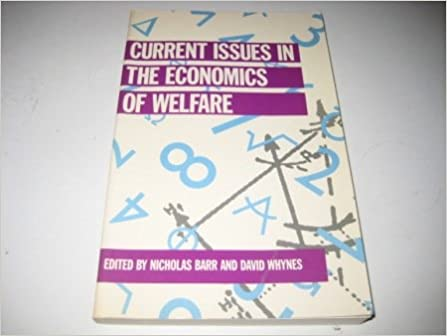 Book Current Issues in the Economics of Welfare (Current Issues in Economics)