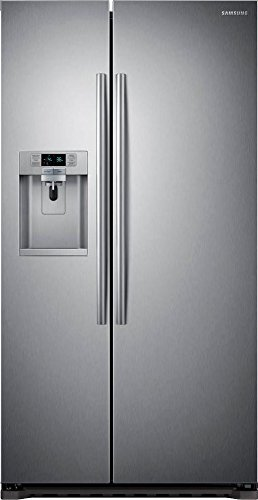- Samsung RS22HDHPNSR Energy Star 22.3 Cu. Ft. Counter-Depth Side-by-Side Refrigeratorr/Freezer with External Water/Ice Dispenser and In-Door Ice Maker, Stainless Steel