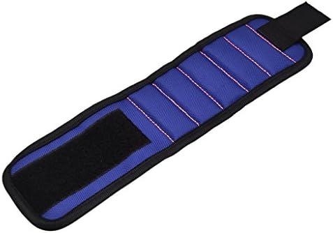 [해외]Homyl 완 자기 작업 용 수리건축목수 마그넷 프리 사이즈 분실 방지 소 분 용-파랑 / Homyl Armband Magnetic Work Repair Architecture  Carpenter with Magnet Free Size For Anti-Loss Small Parts - Blue