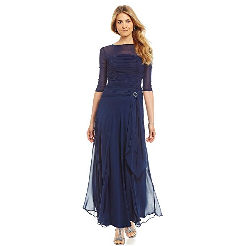 Scoop Neck A-Line Chiffon Mother Of The Bride Dresses