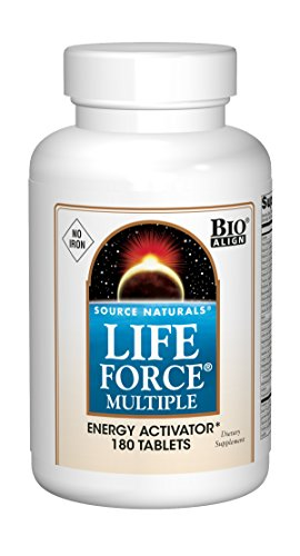 Source Naturals Life Force Multiple Iron Free Daily Multivitamin High Potency Essential Vitamins, Minerals, Antioxidants & Nutrients - Energy & Immune Boost - 180 -