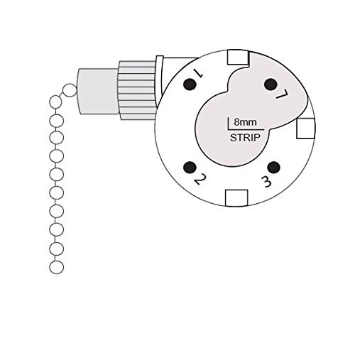 CeilingFanSwitch Zing Ear ZE-268s1 Ceiling Fan Switch Replacement 3 Speed 4 Wire Rotary Control Switch (Antique Brass) by CeilingFanSwitch (Image #2)