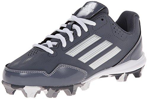 adidas Performance Wheel House 2 K Baseball/Softball Shoe (Little Kid/Big Kid), Onix/Metallic/Silver/White, 4 M US Big Kid by adidas