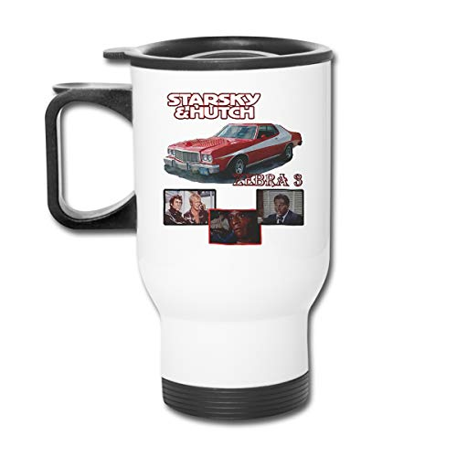 Starsky & Hutch Ford Gran Torino 16 Oz Stainless Tumbler Double Wall Vacuum Coffee Mug With Splash Proof Lid For Hot & Cold Drinks (Gran Torino Best Scene)