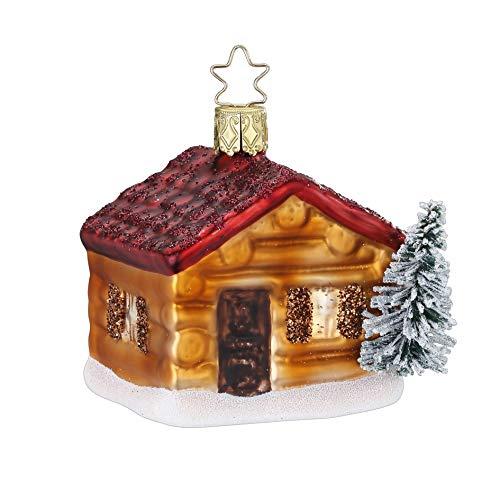 Inge-Glas Christmas Lodge 10069S019 German Glass Christmas Ornament