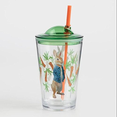 Peter Rabbit Break-Resistant Acrylic Sippy Cup with straw (Straw Bunny)