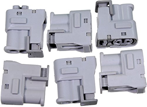 APDTY 112607 Ignition Coil Wire Wiring Harness Plastic Connector Set Of 6 (Fits 4 or 6 Cylinder Models Listed; Used When Replacing Ignition Coils or Spark - Sonata Hyundai Cylinder 4