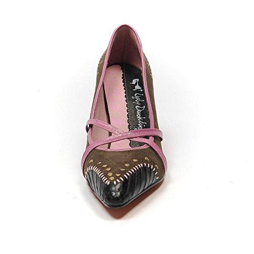 Impresión Serpiente Venus de Zapatos 39 6 Feo Marrón UK Tamaño nbsp;SB 192 Studded Patito 0qTYtan