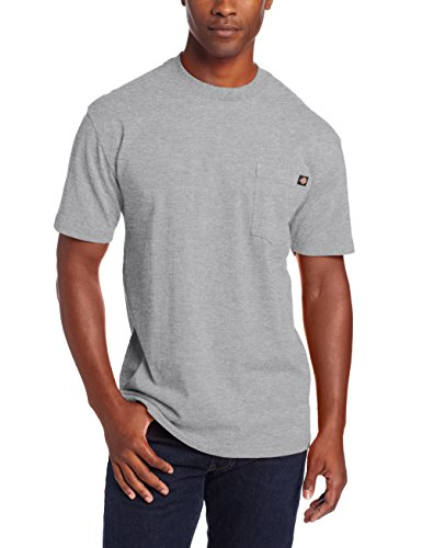 Dickie's Men's Heavyweight Crew Neck Short Sleeve Tee Big-tall,Heather Gray,2X-Large Tall