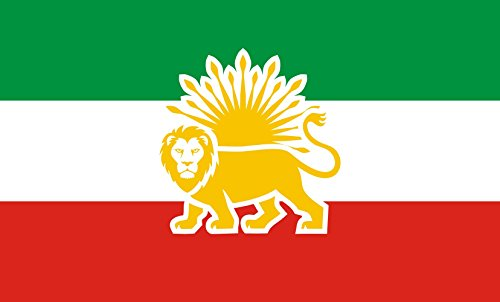 magFlags Large Flag Lion and Sun Flag Proposal for The Republic of Iran | This Modern Lion and Sun Flag is Based on Old Persian/Iranian Flags | Landscape Flag | 1.35m² | 14.5sqft | 90x150cm |