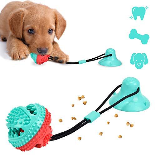 Juguete para Perros con Ventosa Multifuncional Dientes limpios Apto para Perros pequeños y medianos