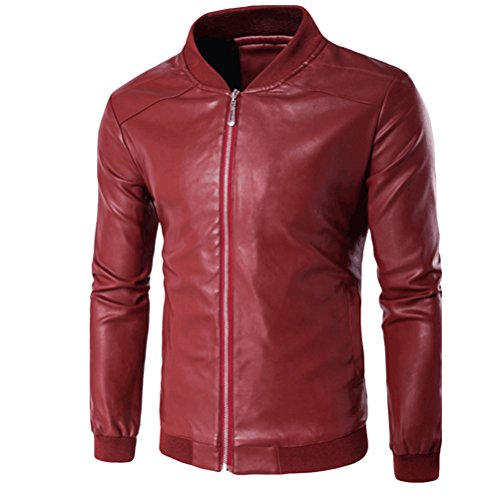 xxl 4xl Pu Moda High Maschile Jacket xxxl Leather Stylish Xl 5xl Quality Zhuhaitf Red Mens Sizes POqxf
