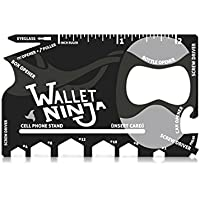 Wallet Ninja 18 in 1 Multi-purpose Credit Card Size...