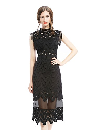 Buy long black lace dress next - 2