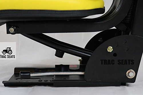 YELLOW JOHN DEERE 2140 2150 2155 2240 2255 5310 5400 5510 6110 TRAC SEATS BRAND WAFFLE STYLE UNIVERSAL TRACTOR SUSPENSION SEAT WITH TILT