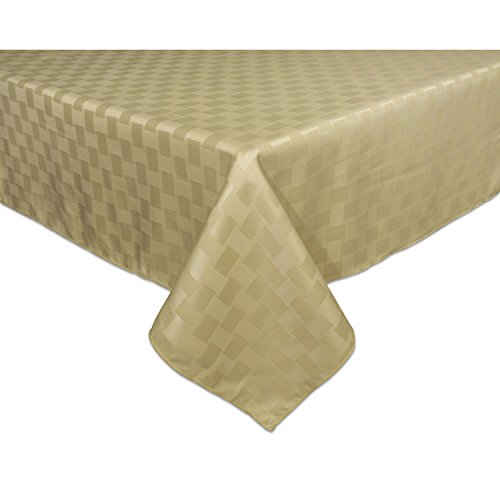 Bardwil Reflections Spill Proof Oblong / Rectangle Tablecloth, 52-Inch x 70-Inch, Khaki
