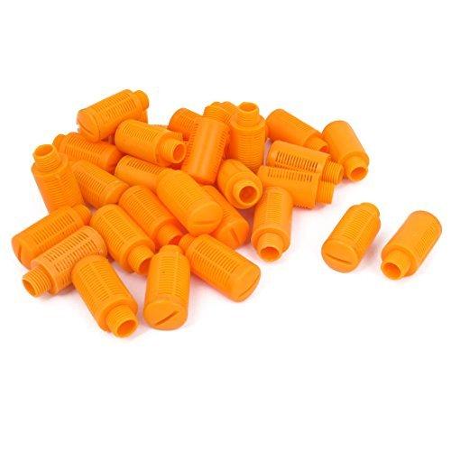 DealMux 1/4BSP Thread Plastic Pneumatic Muffler Noise Exhaust Orange 30pcs DLM-B01B2JSOT6