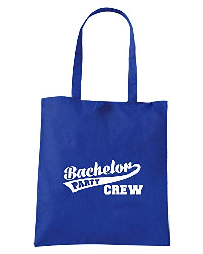 Shopper Royal Borsa BACHELOR Blu MAT0007 CREW PARTY 47ddqzwPx