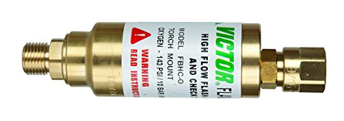 Victor Technologies 0657-0076 Flambuster FBHC-O Heavy Industry Flashback Arrestor, Oxygen, Torch Mount - High Flow