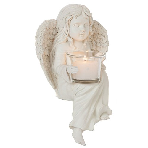Trenton Gifts Shelf Sitting Angel With Votive Candle