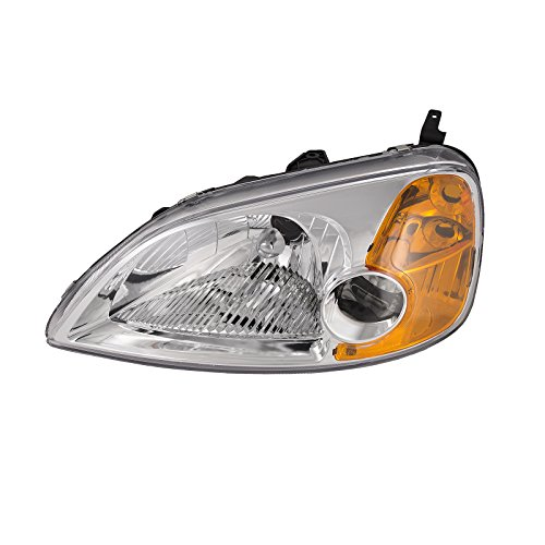 Side Headlight Coupe - Headlights Depot Honda Civic 2-Door Coupe New Driver Side Replacement Headlight