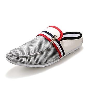 Zapatos de hombre para conducir el verano zapatos de cuero transpirable zapatilla casual calzado de playa
