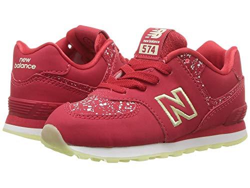 [new balance(ニューバランス)] メンズランニングシューズ?スニーカー?靴 IC574v1 (Infant/Toddler) Red/Glow in the Dark 6.5 Toddler (14cm) W