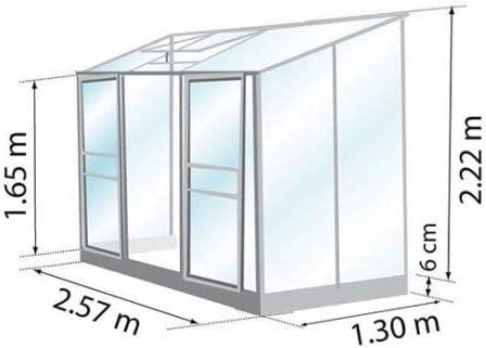 Invernadero adossée Ida 3300 de 3, 34 M²: Amazon.es: Jardín