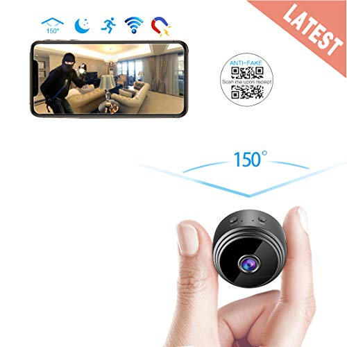 AREBI Spy Camera Wireless Hidden WiFi Camera HD 1080P Mini Camera Portable Home Security Cameras Covert Nanny Cam Small Indoor Video Recorder Motion Activated/Night Vision A10 Plus [2019 Upgraded] ()