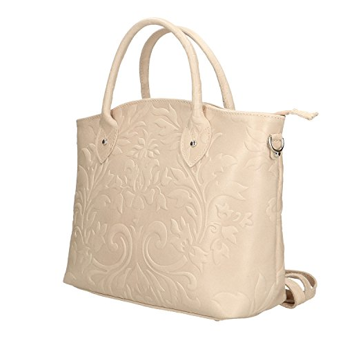 in Rosa Donna 35x28x11 Chicca Cm Borsa in Borse Pelle Vera Made Handbag a Mano da Italy YqPH4qwZ