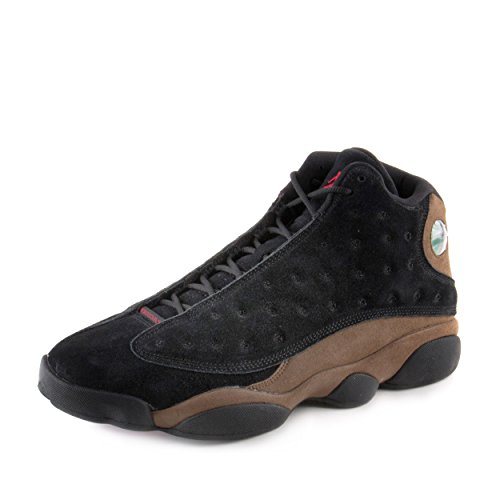 13 Retro Olive Black/Red-Olive Suede Size 13 ()
