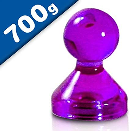 K/ühlschrank Farbe:pink Haftkraft: 700g Acryl /Ø 15 x 20mm - f/ür Pinnwand in 7 Farben bis zu 20 Blatt Papier DIN A4 Whiteboard 20 x Kegelmagnet//Kegel Pinnwand Magnet Neodym
