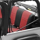 Coverking Custom Fit Seat Cover for Jeep Wrangler TJ 2-Door - (Neoprene, Black/Red)