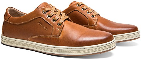 Pictures of JOUSEN Men's Casual Shoes Business Oxford Leather Classic Casual Oxford Shoes 2