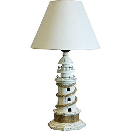 Lighthouse table lamp white 40cm amazon kitchen home lighthouse table lamp white 40cm aloadofball Gallery