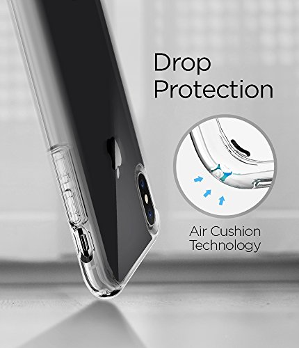 Spigen Ultra Hybrid iPhone X Case with Air Cushion Technology and Hybrid Drop Protection for Apple iPhone X (2017) - Crystal Clear by Spigen (Image #6)