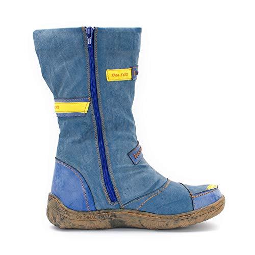 Piel Tma nbsp;– nbsp;– Invierno Y Mujer Azul 36 nbsp;botas De Tallas Difuntos Sintética Look nbsp;42 Vaquero Awrfp0A