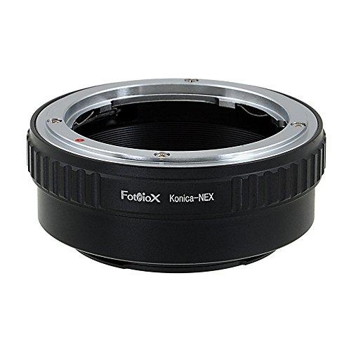 Fotodiox Lens Mount Adapter - Konica Auto-Reflex (AR) SLR Lens to Sony Alpha E-Mount Mirrorless Camera Body (Konica Mount)