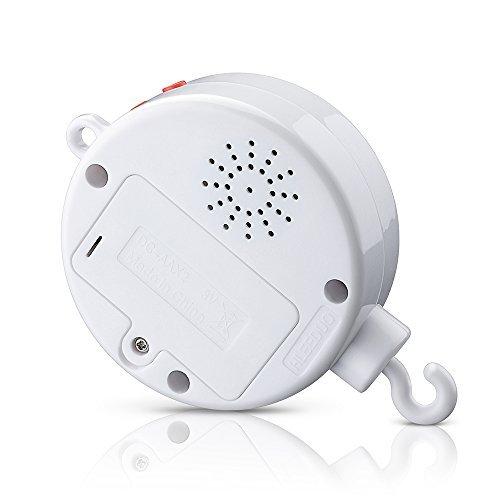 Version Am/élior/ée TOPELEK Bo/îte /à Musique Electrique Mobile pour B/éb/é avec 128M Carte Micro SD et 12 Chansons Blanc Jouets et Cadeaux pour B/éb/é
