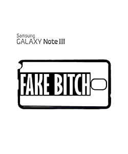 Fake B*itch Cool Vintage Mobile Cell Phone Case Samsung Note 3 White